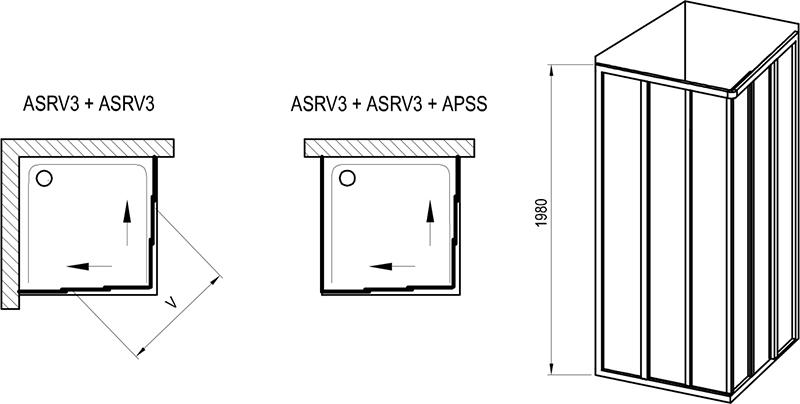 Sprchový kout Supernova ASRV3 + ASRV3