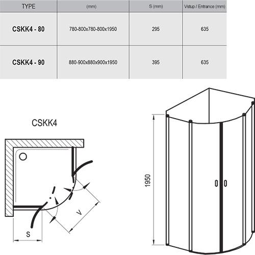 Sprchový kout Chrome CSKK4