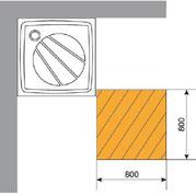 Minimální dostateční prostor - sprchový kout