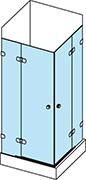 Systém otevírání sprchových dveří - pantový