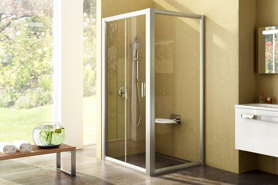 Sprchové dveře s pevnou stěnou Rapier NRDP2+RPS