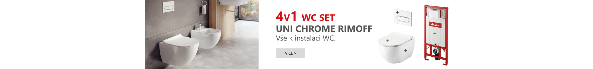 WC set 4v1 Chrome do sádrokartonu
